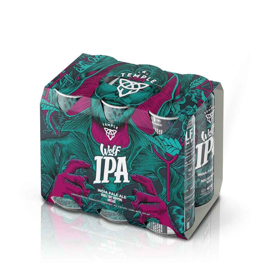 Pack: 6 Temple Wolf IPA